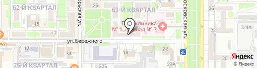 Merci на карте Новомосковска