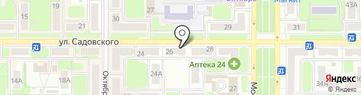 Магазин канцтоваров на карте Новомосковска