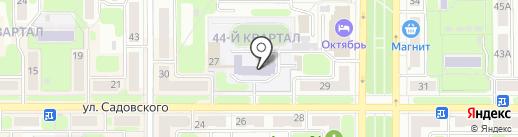 Средняя общеобразовательная школа №25 на карте Новомосковска