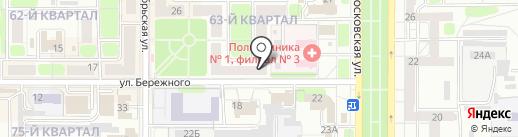 Душечка на карте Новомосковска