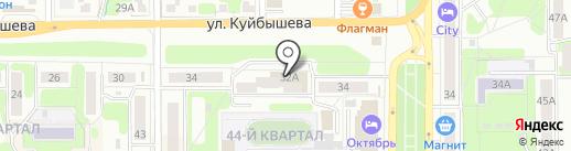 Пена на карте Новомосковска