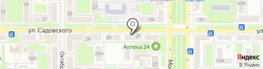 Юниор на карте Новомосковска
