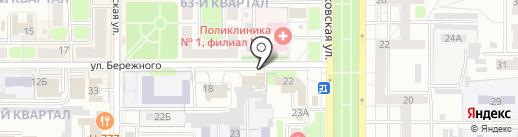 Колизей на карте Новомосковска