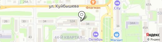Ветеринарный центр на карте Новомосковска