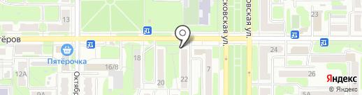 Гисс на карте Новомосковска