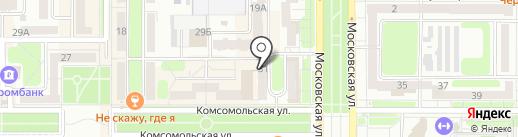 Касса Микрофинансирования на карте Новомосковска