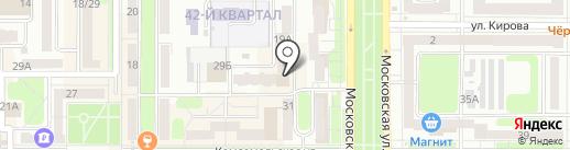Бар на карте Новомосковска