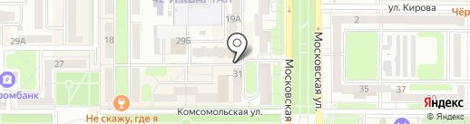 Магазин белорусской косметики и парфюмерии на карте Новомосковска