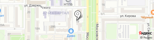 Лоза на карте Новомосковска