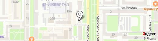 Лорнет на карте Новомосковска