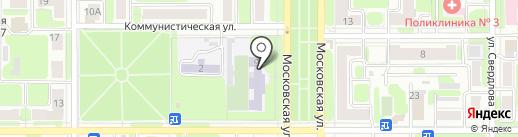 Средняя общеобразовательная школа №18 на карте Новомосковска