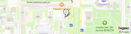 Лиза на карте Новомосковска