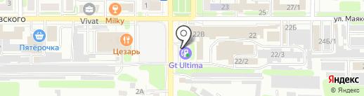 АЗС НВ-ойл на карте Новомосковска