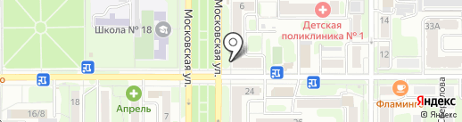 Полиграф-Клуб на карте Новомосковска