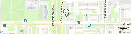 Концепт на карте Новомосковска