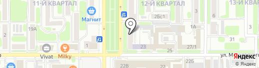 Магазин электротехнической продукции на карте Новомосковска