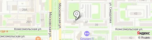 Центральный на карте Новомосковска