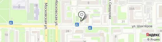 Магнолия на карте Новомосковска