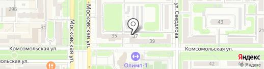 Авто Новомосковск, FM 107.9 на карте Новомосковска