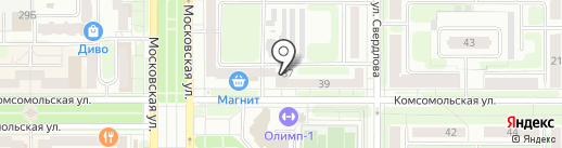 Радио Ваня на карте Новомосковска