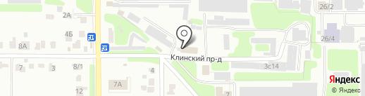Конта на карте Новомосковска