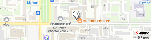 Мир пиротехники на карте Новомосковска