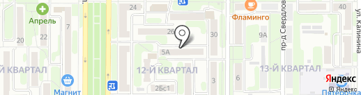 ЖЭУ-7 на карте Новомосковска
