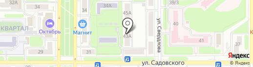 Городская служба недвижимости на карте Новомосковска