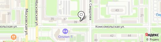 Магазин-салон газового оборудования на карте Новомосковска