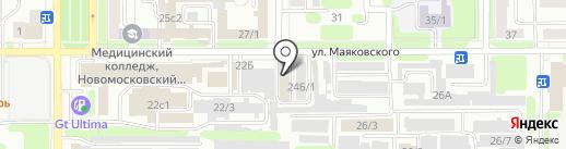 Сластена на карте Новомосковска