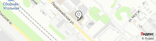 Курант на карте Новомосковска