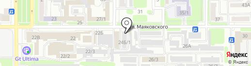 Технология тонирования на карте Новомосковска