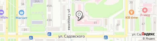 Женская консультация на карте Новомосковска