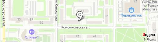 Магазин электротоваров на карте Новомосковска