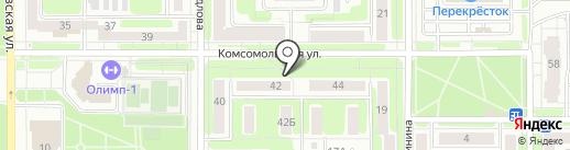 Магазин пряжи и товаров для рукоделия на карте Новомосковска