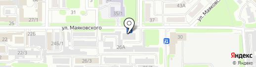Сапожок на карте Новомосковска