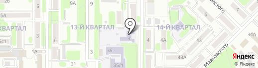 Детский сад №36 присмотра и оздоровления на карте Новомосковска
