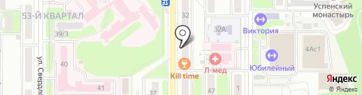 Чайковский на карте Новомосковска