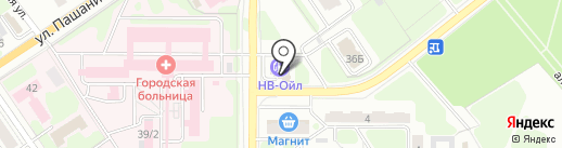 Автомагазин на карте Новомосковска