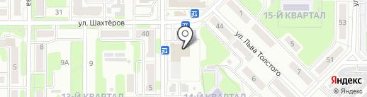 Зоомир на карте Новомосковска