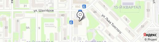 Сабавон на карте Новомосковска