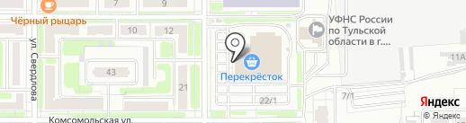 Карусель на карте Новомосковска