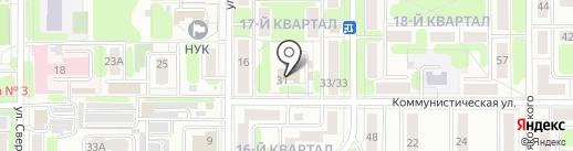 РиО на карте Новомосковска