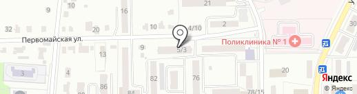 Зелёный огонек на карте Донского