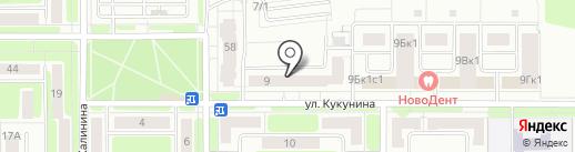Взгляд на карте Новомосковска