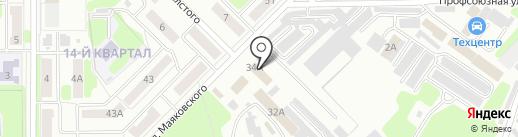 Магазин автозапчастей для грузовых автомобилей на карте Новомосковска