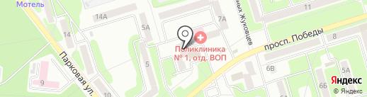 Аксеновский на Залесном на карте Новомосковска