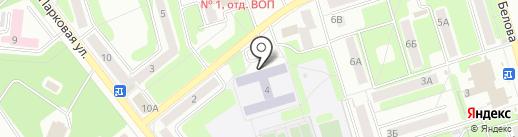 Средняя общеобразовательная школа №17 на карте Новомосковска