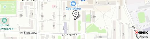 Магазин мебели на ул. Кирова на карте Донского