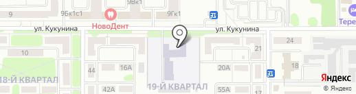 Новомосковский областной центр образования на карте Новомосковска
